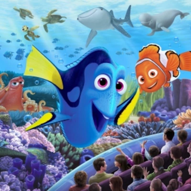東京ディズニーシーの新アトラクション「ニモ&フレンズ・シーライダー」のイメージ画像(Artistconceptonly(c)Disney/Pixar)