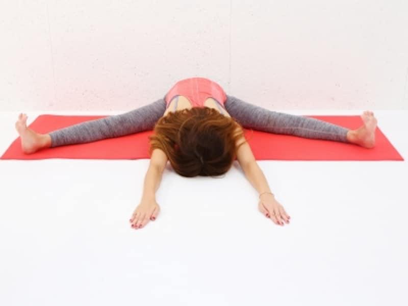 動作2undefined上体をまっすぐ床に倒します。