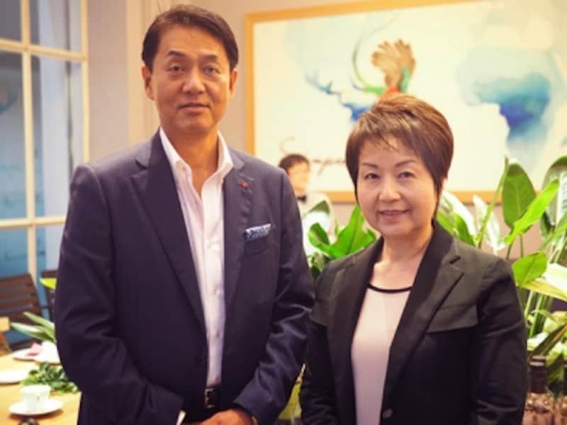 川島良彰さんと津田陽子さん