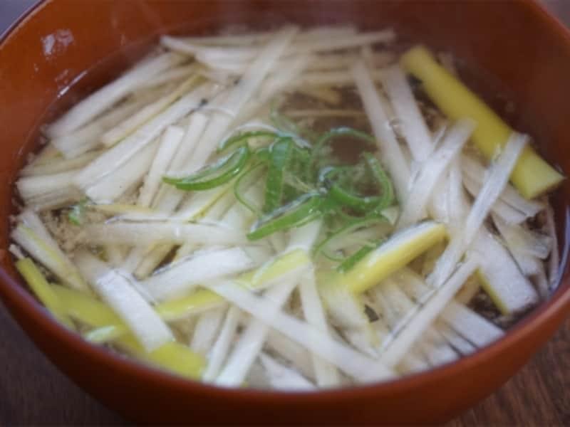 サバ水煮缶のねぎたっぷり即席味噌汁