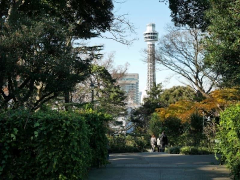 ポートマフィアがあがってくるシーンでは、横浜マリンタワーも描かれていました(2016年12月17日撮影)