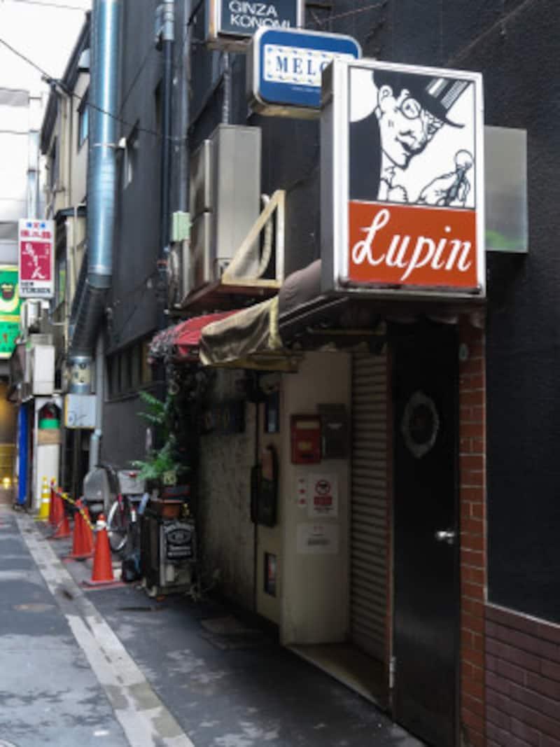 太宰治が拉致されたBarLupin(バールパン)は東京・銀座5丁目にあります(2017年4月18日撮影)