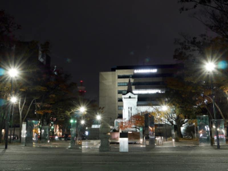 谷崎潤一郎のバトルシーンに登場する、開港広場(2018年12月2日撮影)