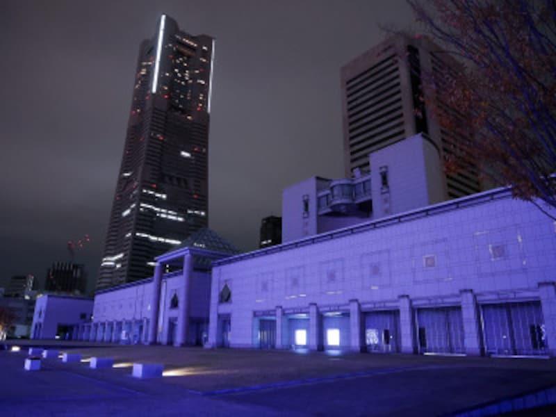 福沢諭吉のバトルシーンに登場する、横浜美術館前(2018年12月2日撮影)