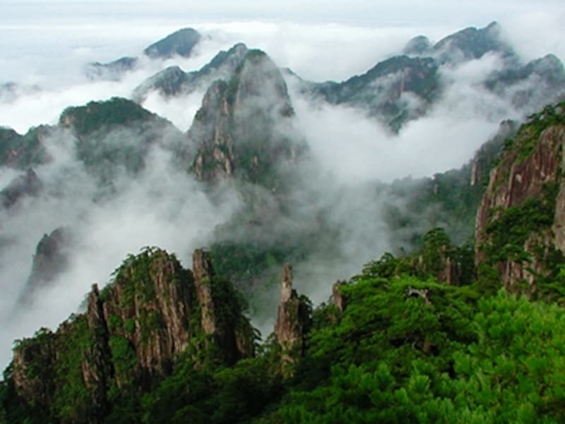 黄山四絶のひとつ、雲海