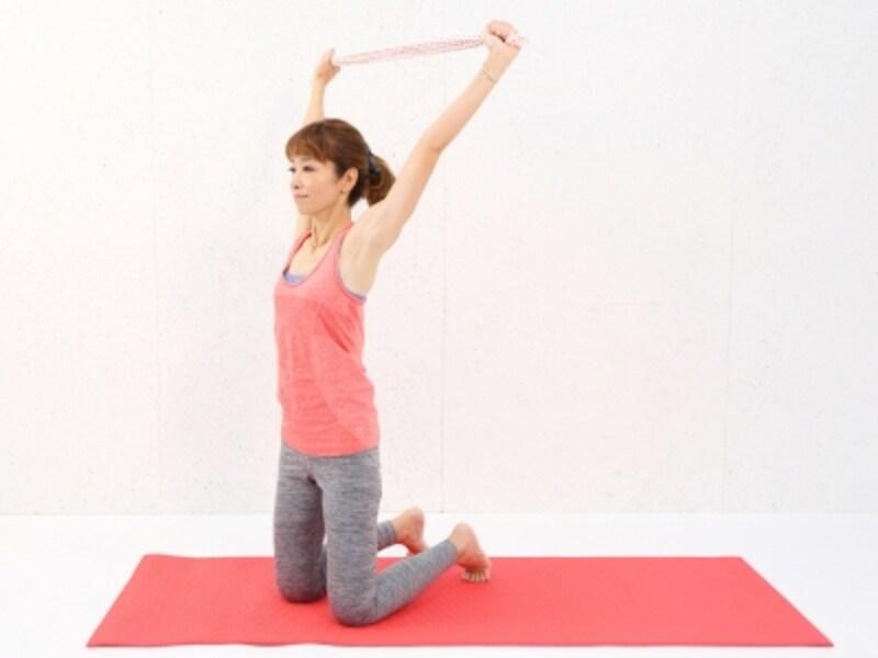 動作2undefined肩や首に力が入り過ぎないように注意しましょう。