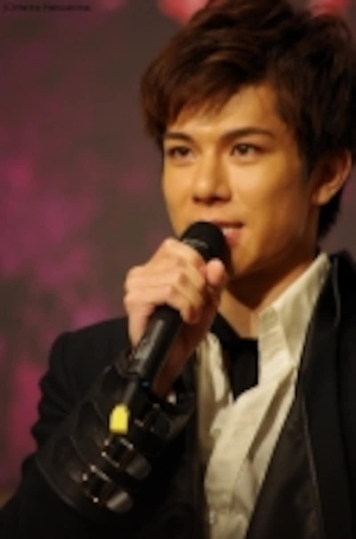 『フランケンシュタイン』ダブルキャストでビクターを演じる柿澤勇人さん、16年9月の製作発表記者会見にて。(C)MarinoMatsushima