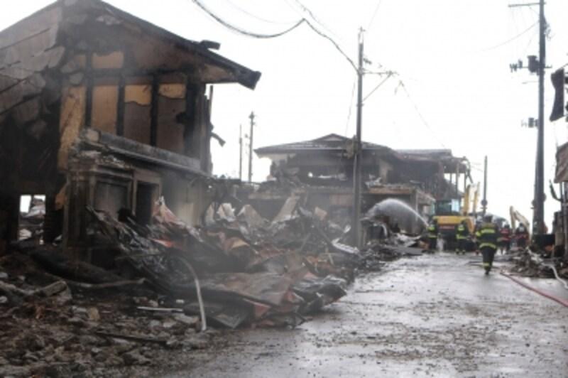 糸魚川市の大規模火災の被災状況(出典:糸魚川市HPより)