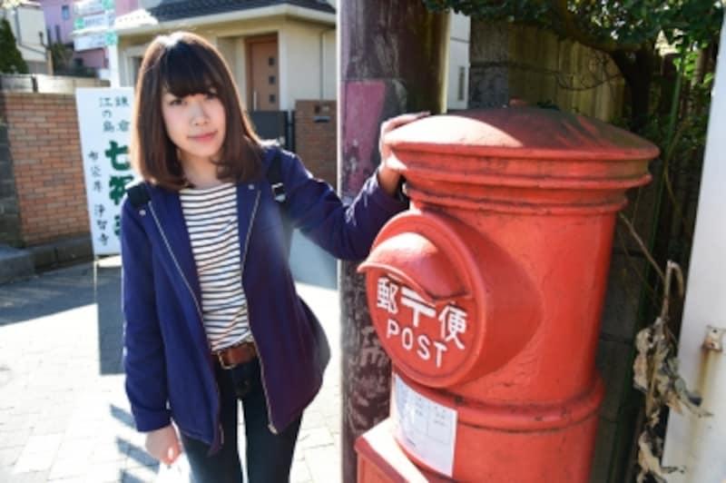 鎌倉市内では、まだたくさんの円筒形ポストが現役で活躍中!