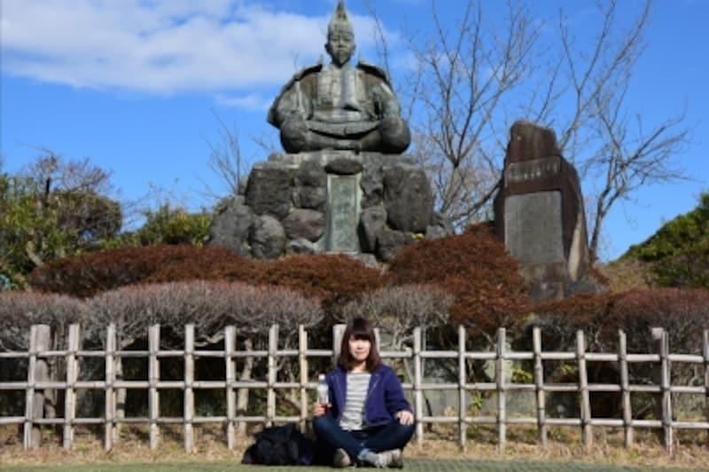 頼朝さんと記念写真!