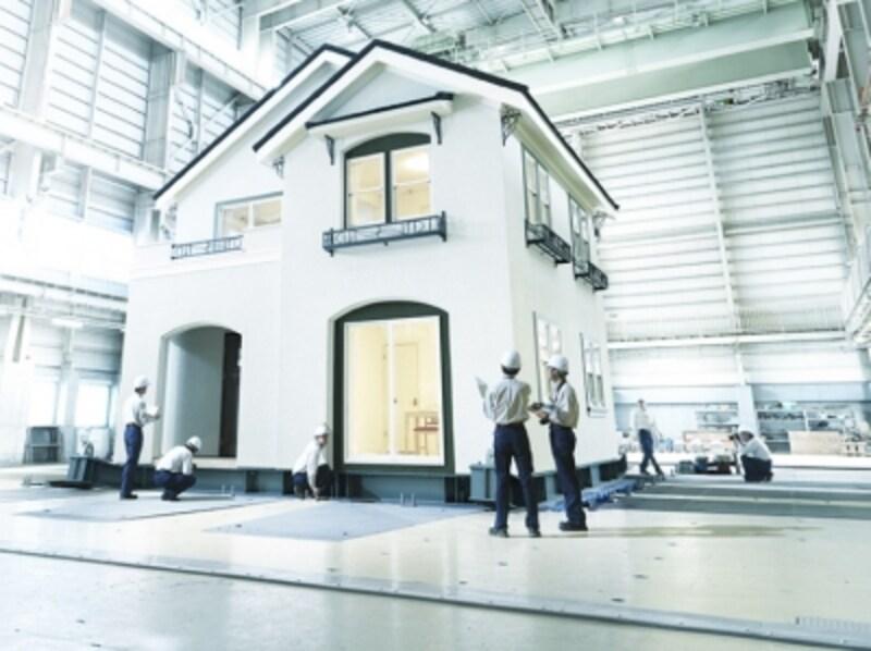 三井ホーム耐震実験の風景