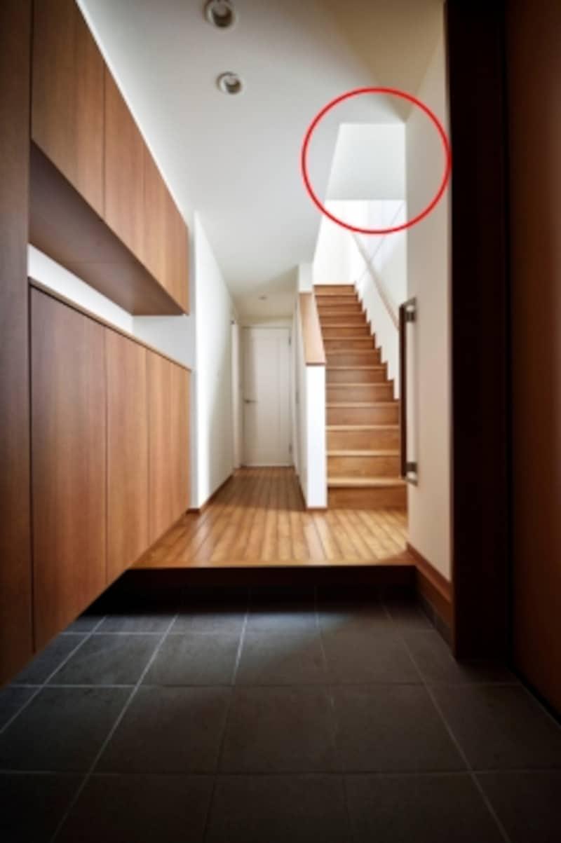 階段上の天井