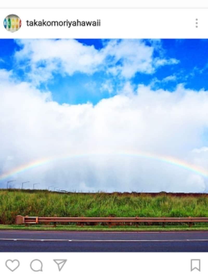「レインボー・ステート」のニックネームをもつハワイ。シャワーが降りやすい冬は虹に出合える季節