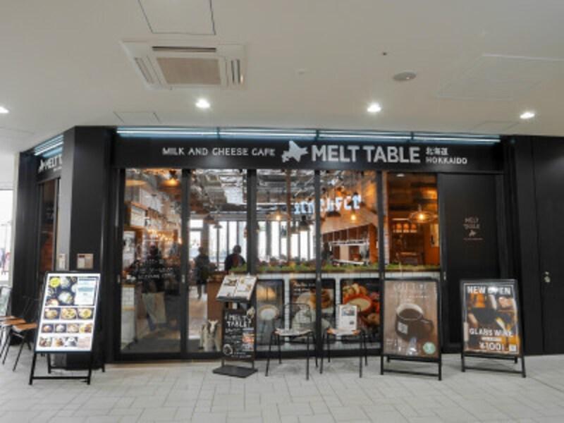 MEGAドン・キホーテ港山下総本店1階にオープンした「北海道MELTTABLE」外観(2019年2月26日撮影)