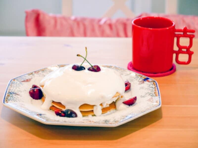 アメリカンチェリーのパンケーキ(1430円)