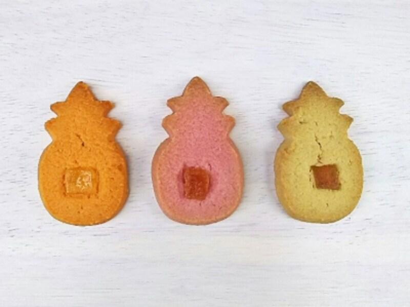 ホノルル・クッキー・カンパニーのパイナップル形ショートブレッドクッキー