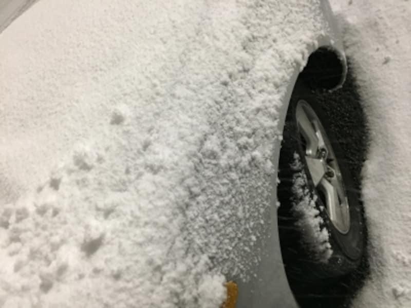 急な積雪にチェーンがない場合は?