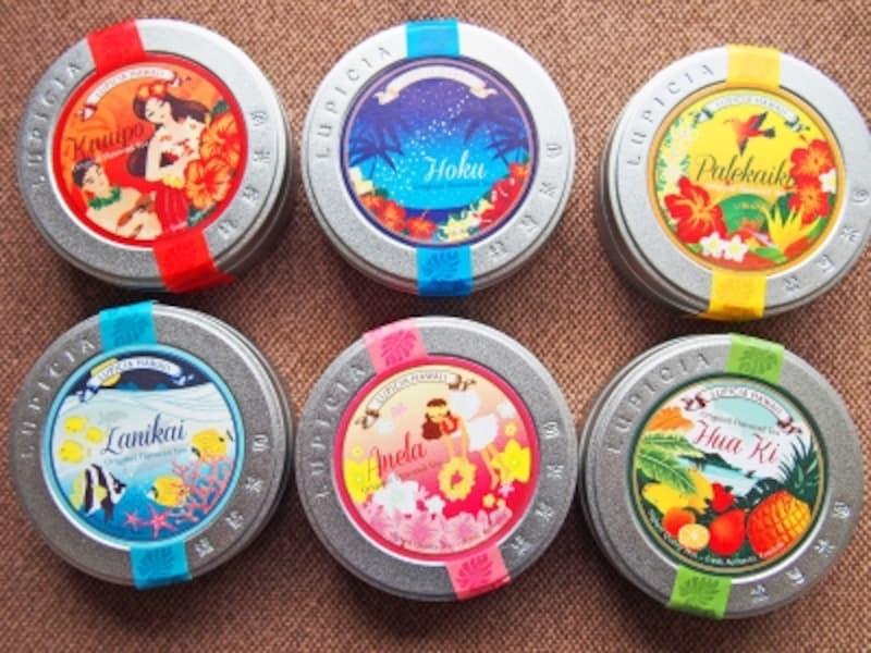 ルピシアのハワイ限定オリジナルティー(1缶10ドル)。ほかに「マヒナ」があり全7種類