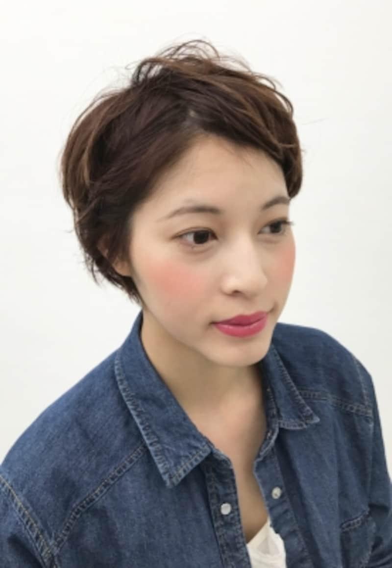 ショートスタイル前髪アレンジ