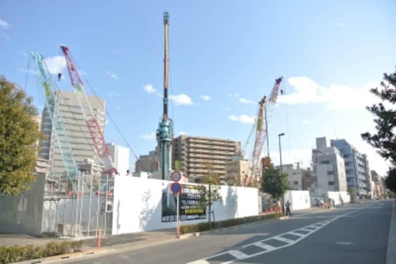 「(仮称)大井町大規模再開発タワープロジェクト」の現地