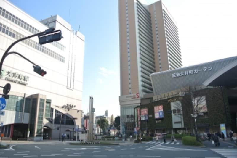 「大井町」駅前は、商業施設が揃っている