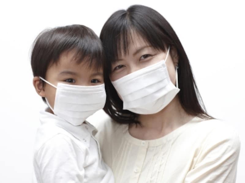 マスクをしている様子