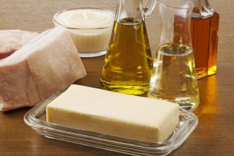 油と油を多く含む食品