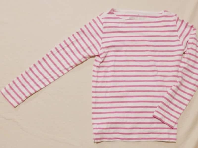 無印良品 | オーガニックコットン太番手パネルボーダー長袖Tシャツ【サイズ拡大】紳士XXL・ダークレッド 通販