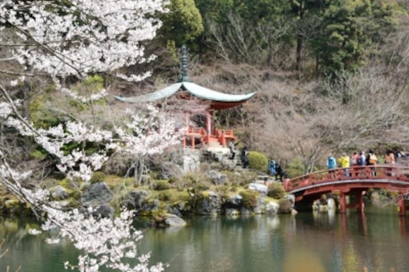 弁天堂と桜(2016年3月29日撮影)