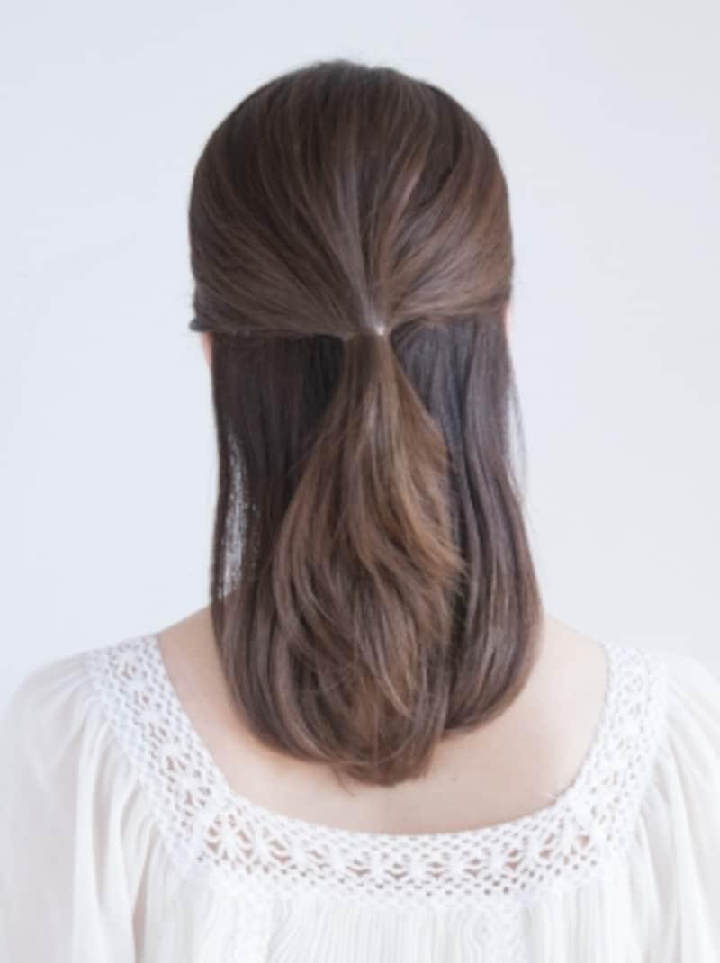 きれいめハーフアップヘア