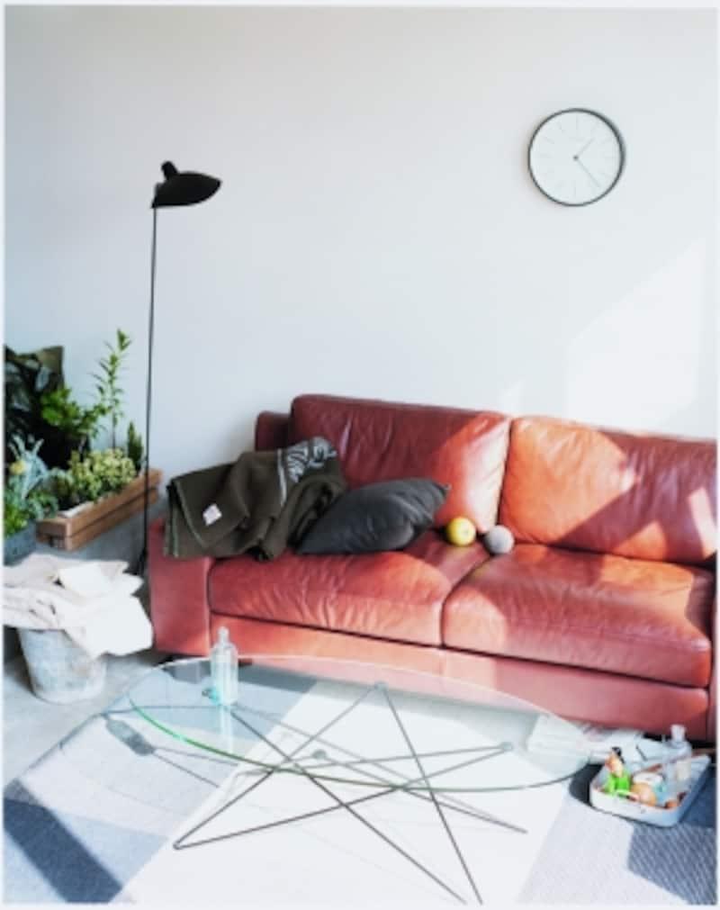 セルジュ1灯とソファ