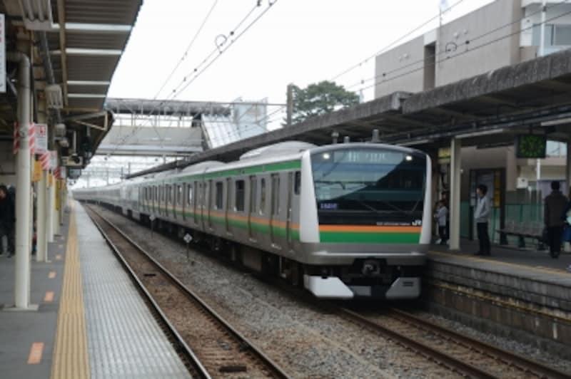 東海道本線の電車