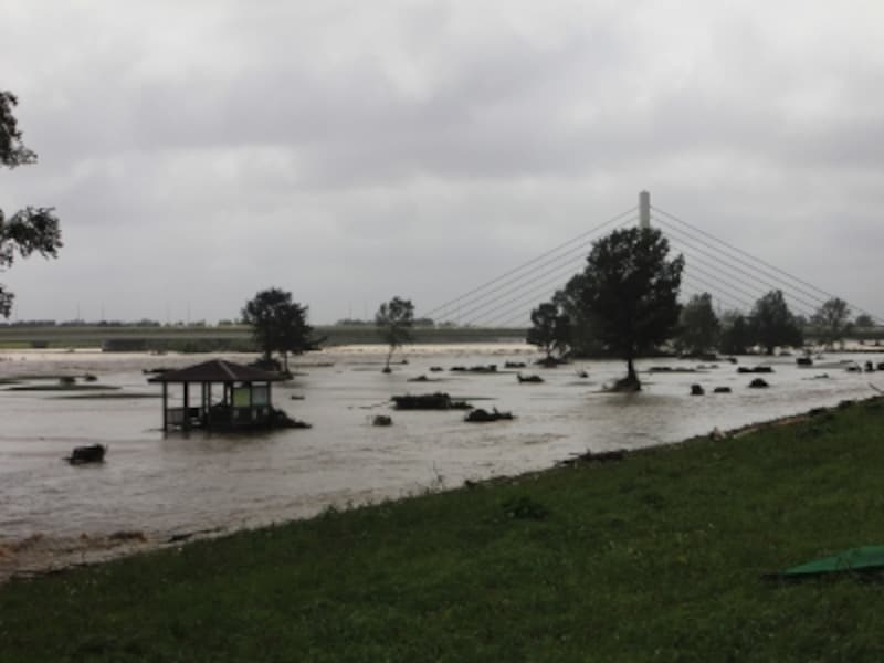 水害は豪雨などによる浸水のみならず、土砂災害や土石流も含まれる