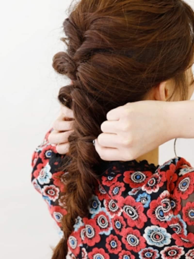 残りの髪でフィッシュボーン
