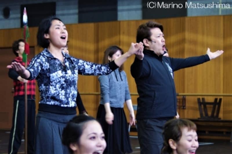 『オペラ座の怪人』稽古より、迫力あるオペラシーンが楽しめる「ハンニバル」。(C)MarinoMatsushima