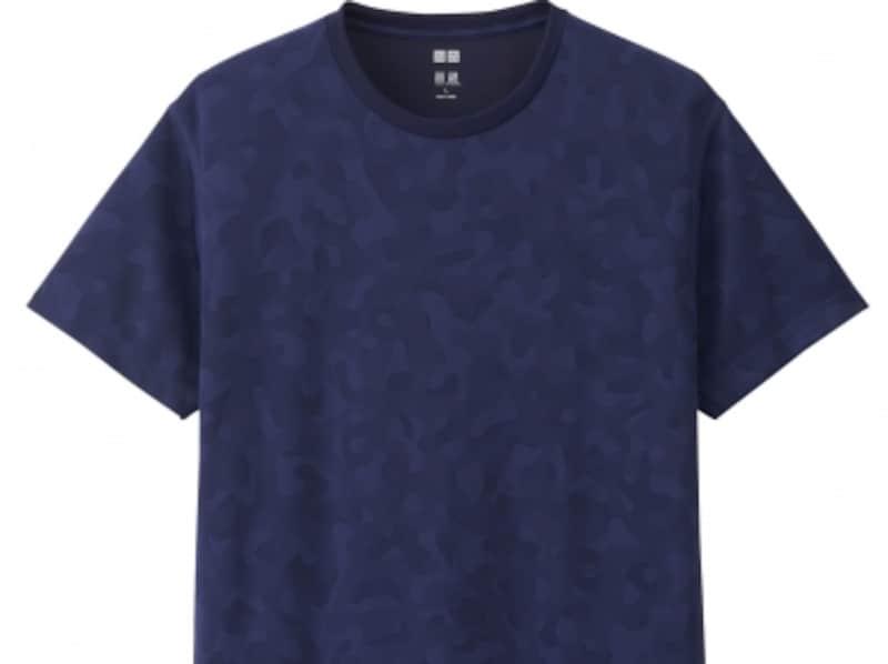 ドライEXシリーズのカモフラ柄Tシャツ。ジャケットのインナーに合わせることで新たな印象に!