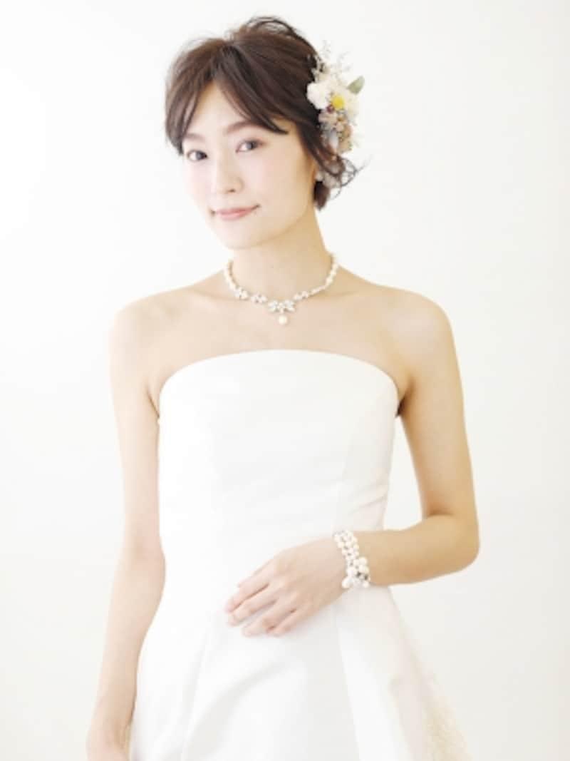 大人の花嫁にも似合うエレガントスタイル