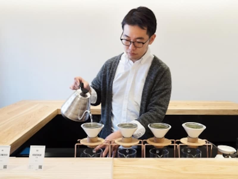 日本茶用ドリッパーを独自に開発