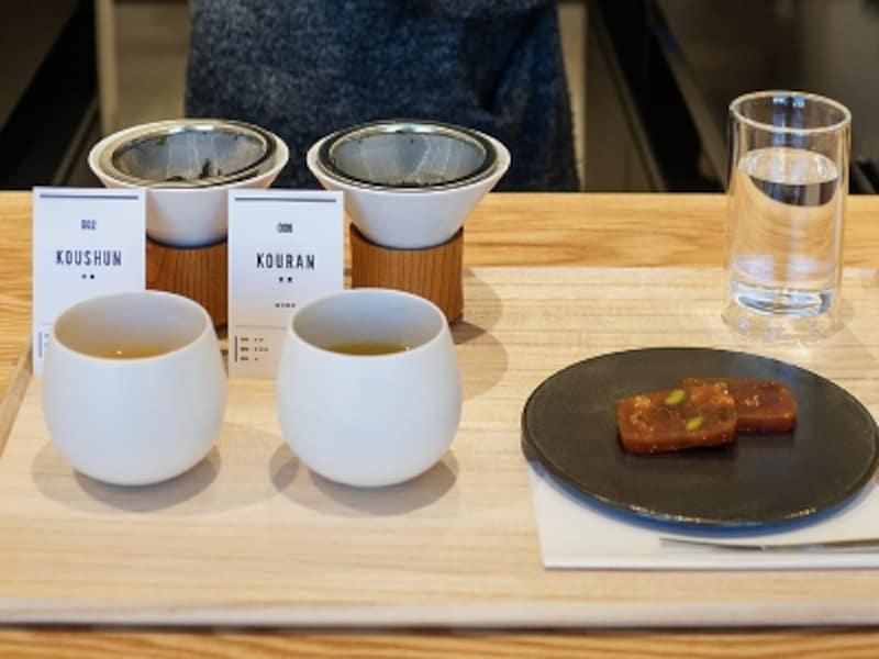 煎茶2種類とお菓子のセット