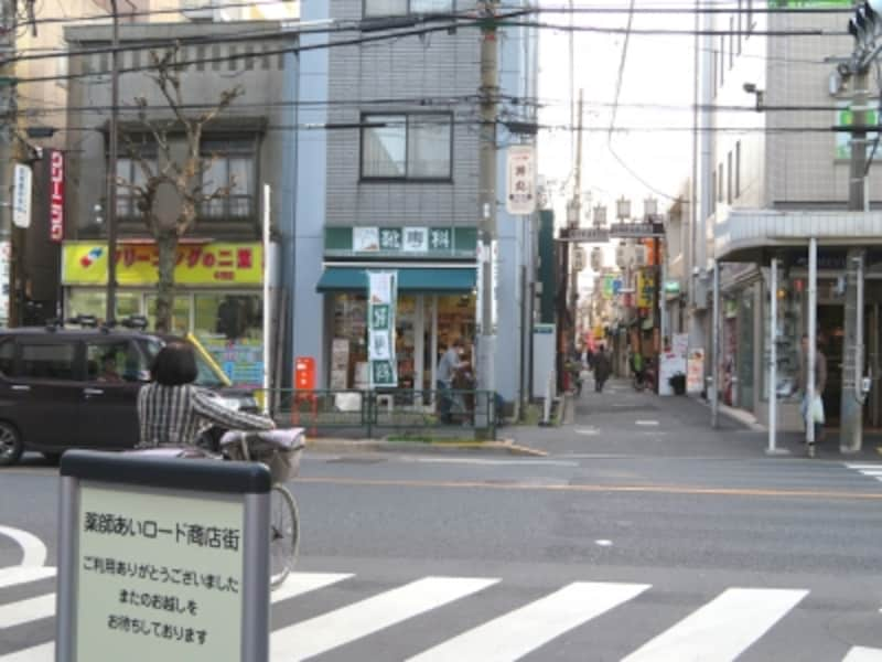 あいロードと早稲田通り