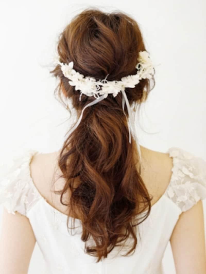 花嫁に人気のヘアアレンジロング
