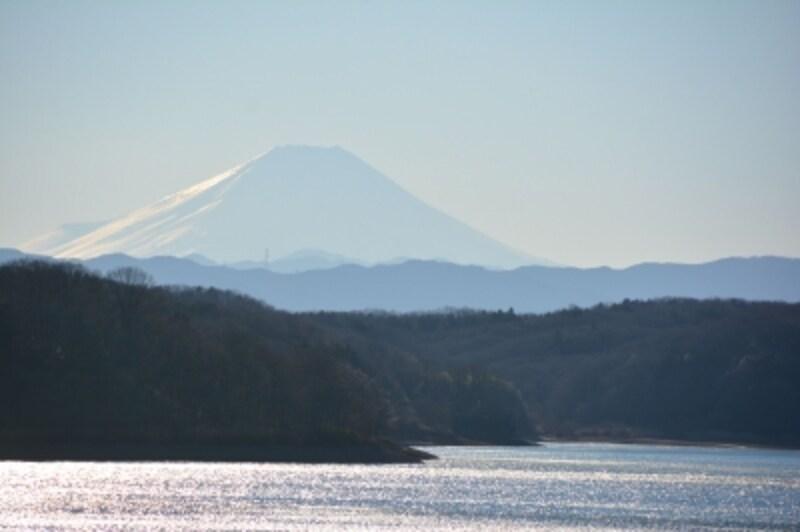 狭山湖畔から望む富士山