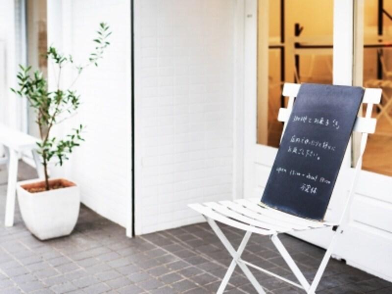 「き」の入口の小さな黒板