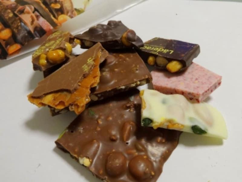 チョコレートを色々なサイズに