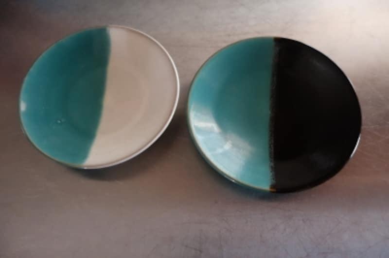 民芸や郷土玩具への興味は、この器から始まりました。鳥取・中井窯の掛け分け皿です。