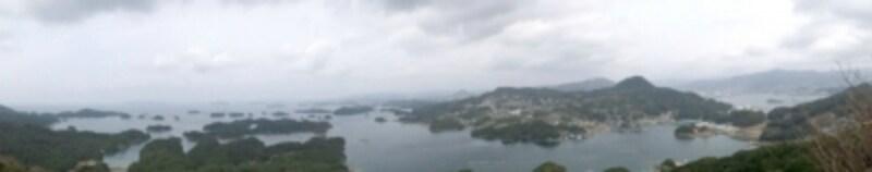 展海峰から眺める九十九島。まさに島が密集している風景を見下ろせます(2012年3月撮影)