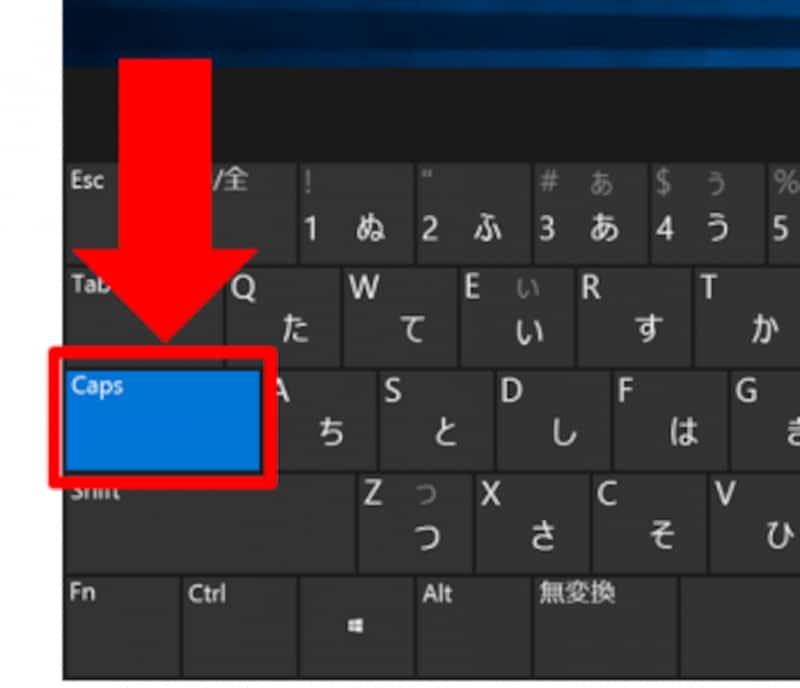 CAPSLOCK状態(スクリーンキーボード)