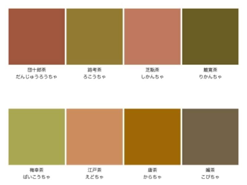 四十八茶の代表的な色名
