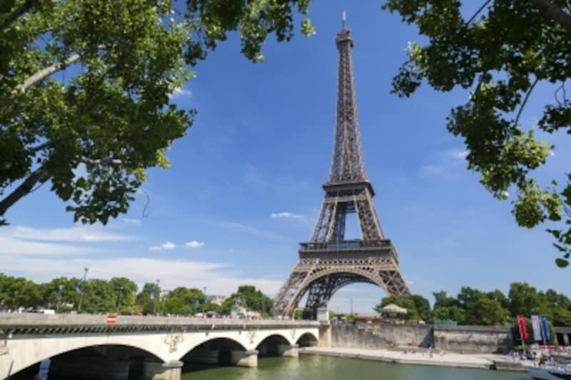エッフェル塔のあるパリの光景