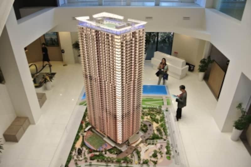 「パークタワー晴海」の完成予想模型